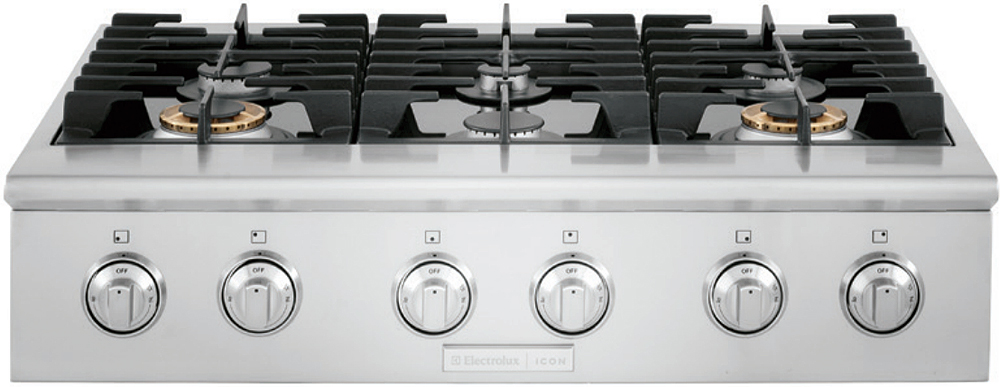 "Electrolux ICON 36"" Stainless Steel Gas Cooktop"
