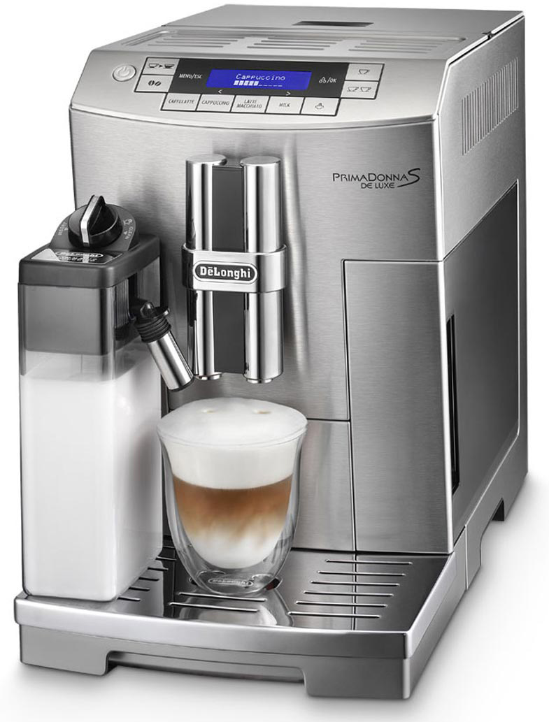DeLonghi Stainless Steel Primadonna S Cappuccino Machine