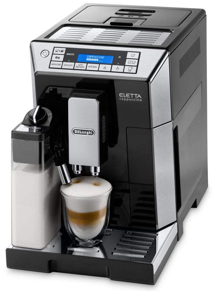 DeLonghi Black Eletta Cappuccino Machine
