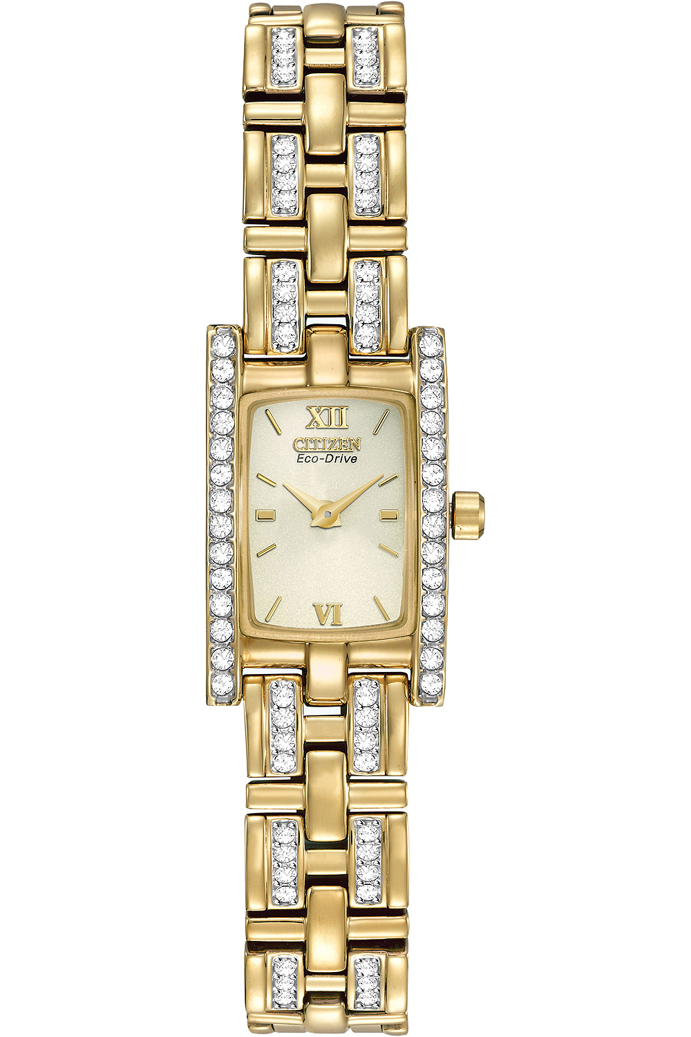 Citizen Eco-Drive Gold-Tone Stainless Steel Silhouette Wo...