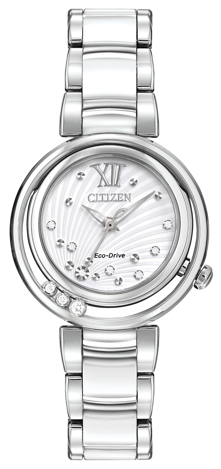 Citizen Eco-Drive L Sunrise Silver-Tone Womens Watch