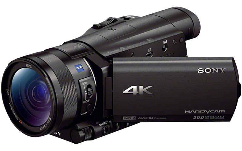 "Sony Black 4K Camcorder With 1"" Sensor"