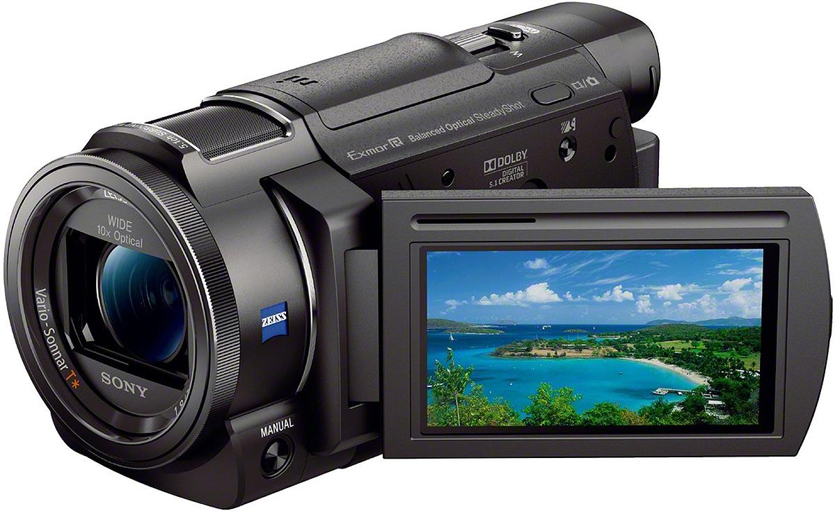 "Sony Black 4K Camcorder With 1/2.3"" Sensor"