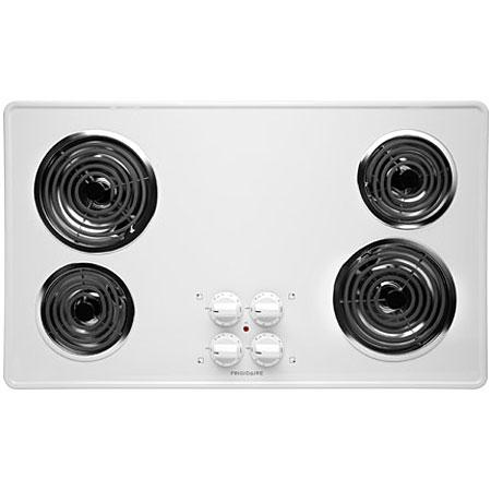"Frigidaire 36"" FFEC3605 White Electric Cooktop"