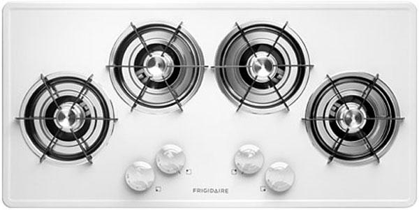"Frigidaire 36"" White Gas Cooktop"
