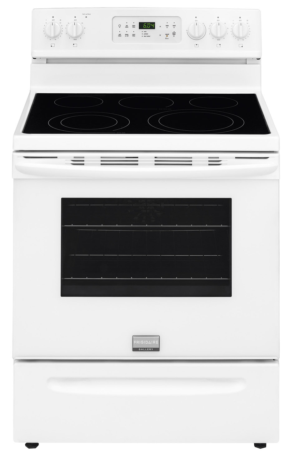 Frigidaire Gallery 30 in. 5.7 cu. ft. Electric Range with Self-Cleaning QuickBake Convection Oven in White