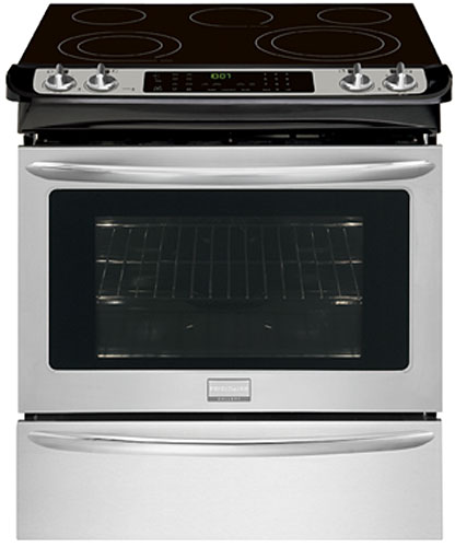"""Frigidaire Gallery 30"""""""" Smudge-Proof Stainless Slide-In Electric Range -  FGES3065PF"""