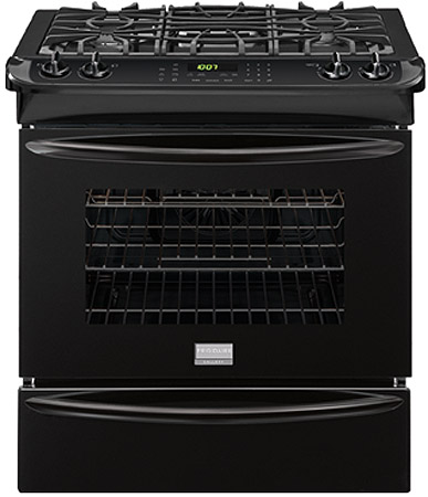 "Frigidaire Gallery 30"" Black Slide-In Gas Range"