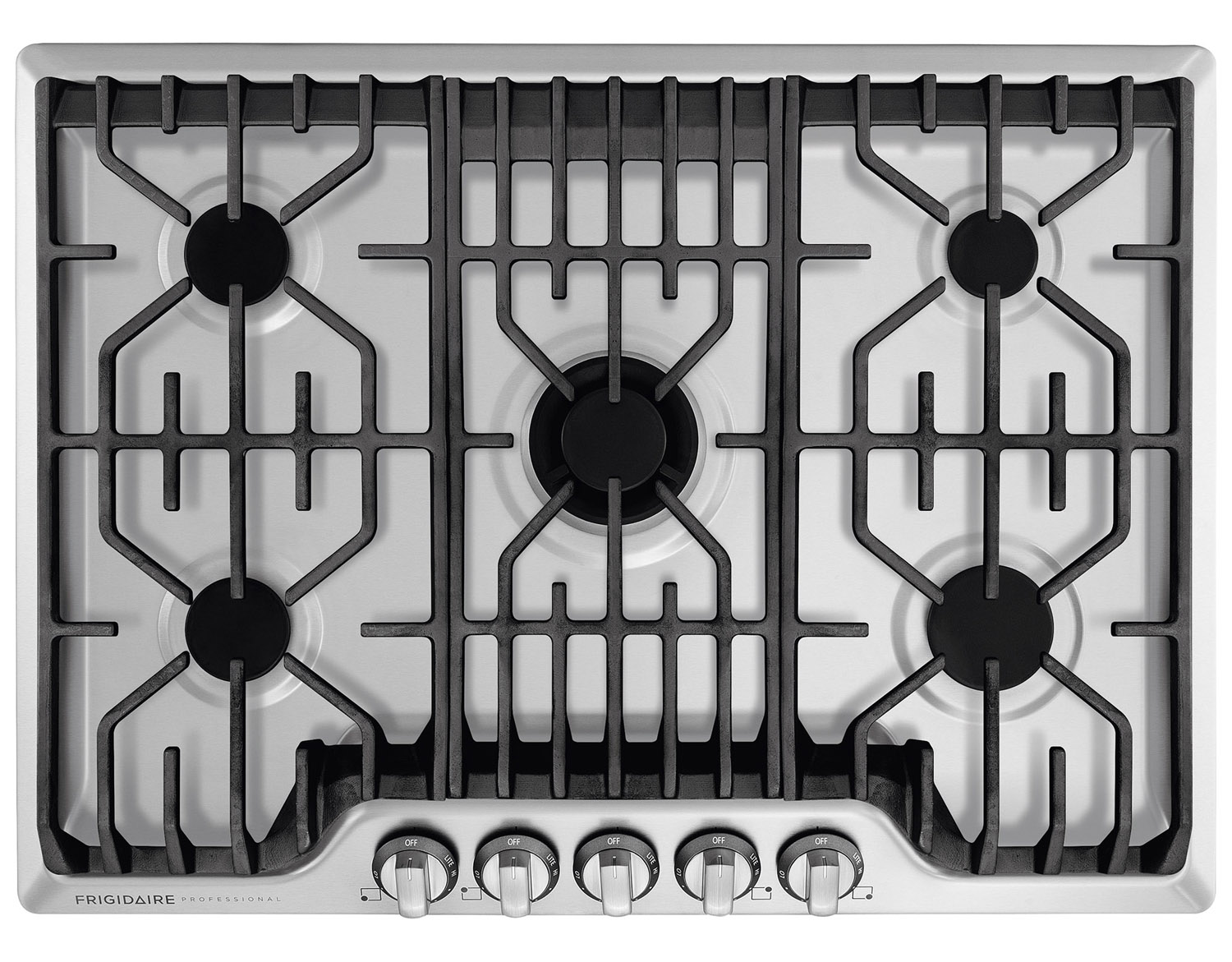 """Frigidaire Professional 30"""" Stainless Steel Gas Cooktop"""