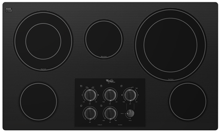 "Whirlpool 36"" Black Electric Cooktop"