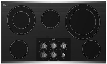 """Whirlpool 36"""" Stainless Electric Cooktop"""