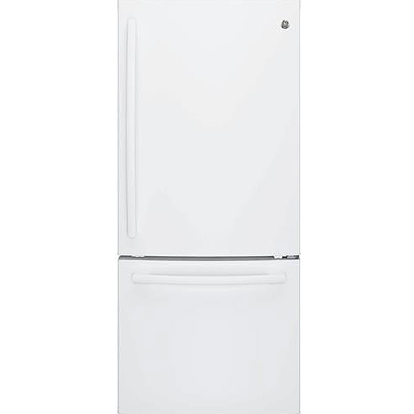 GE White Bottom Freezer Refrigerator