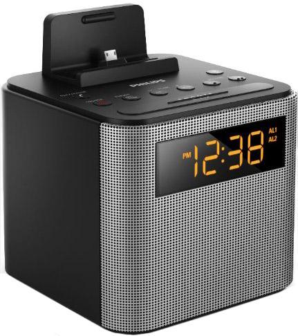 Philips Black Bluetooth Alarm Clock And Speaker