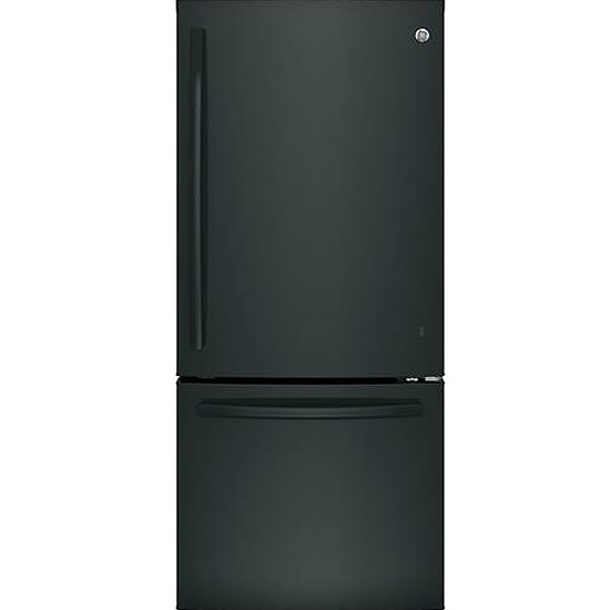 GE Black Bottom Freezer Refrigerator