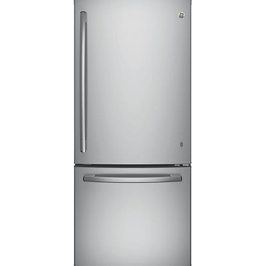GE Stainless Steel Bottom Freezer Refrigerator