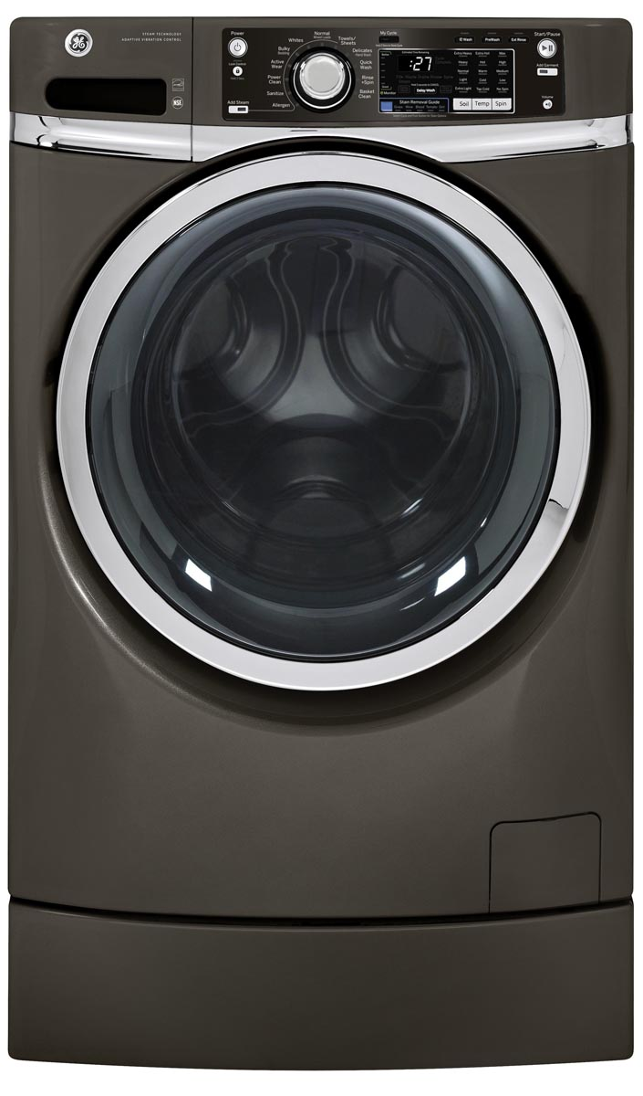 GE GFWR2705 28 Inch Wide 4.5 Cu. Ft. Energy Star Rated Front Loading Washer with Metallic Carbon