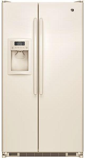 GE Bisque Side-By-Side Refrigerator