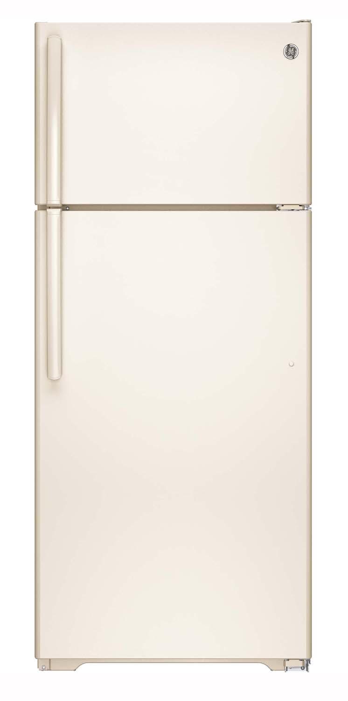 Ge Bisque Top Freezer Refrigerator Gte18gthcc