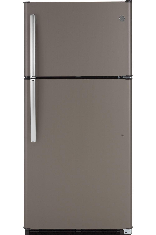 GE Slate Top Freezer Refrigerator