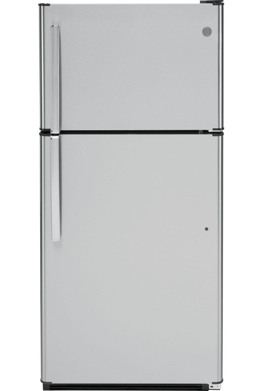 GE Stainless Steel Top Freezer Refrigerator