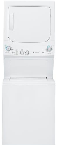 "GE 27"" Unitized Spacemaker Stack Washer With Gas Dryer"