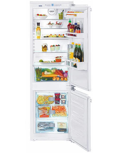 """Liebherr 22"""" White Built-In Bottom-Freezer Refrigerator"""