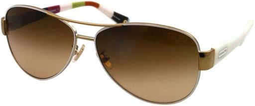 Coach Legacy Kristina White Aviator Womens Sunglasses