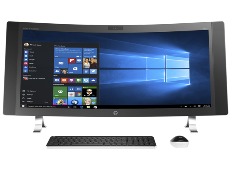 HP ENVY Black Curved All-In-One Desktop Computer