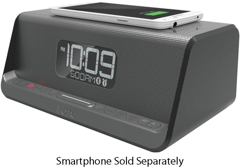 2c14ae27061 iHome Gunmetal NFC Bluetooth Stereo Dual Alarm Clock - IBN350G