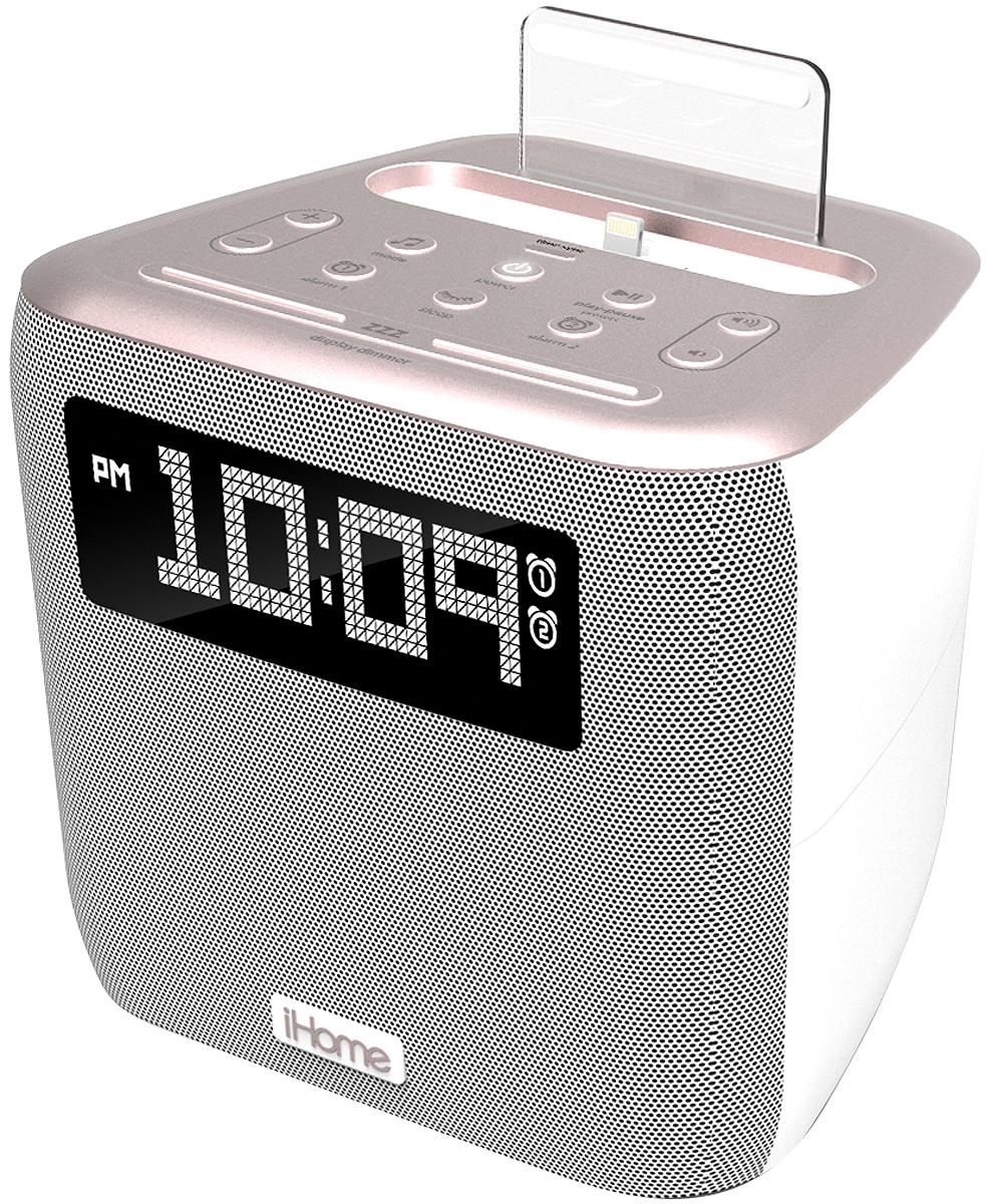 iHome Rose Gold Dual Alarm FM Clock Radio