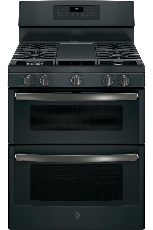Ge 30 Quot Black Slate Gas Double Oven Range Jgb860fejds