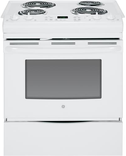 GE 4.4 cu. ft. Slide-In Electric Range with Self-Cleaning Oven in White