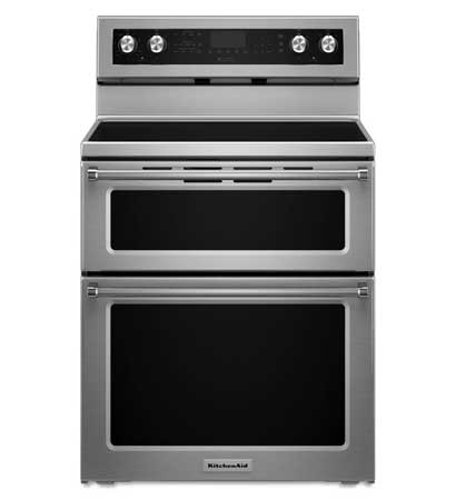 "KitchenAid 30"" Stainless Steel Freestanding Electric Range"