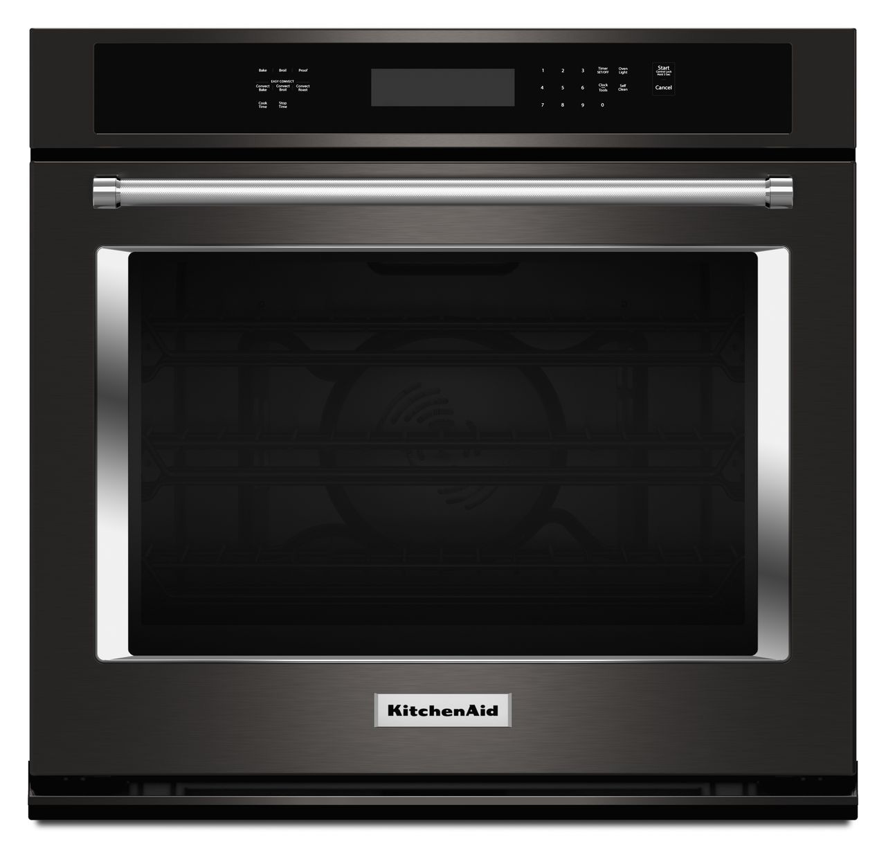 Kitchenaid Black Stainless Single Wall Oven Kose500ebs