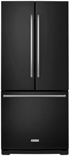 KitchenAid 19.7 Cu Ft French Door Refrigerator With Single Ice Maker (Black)