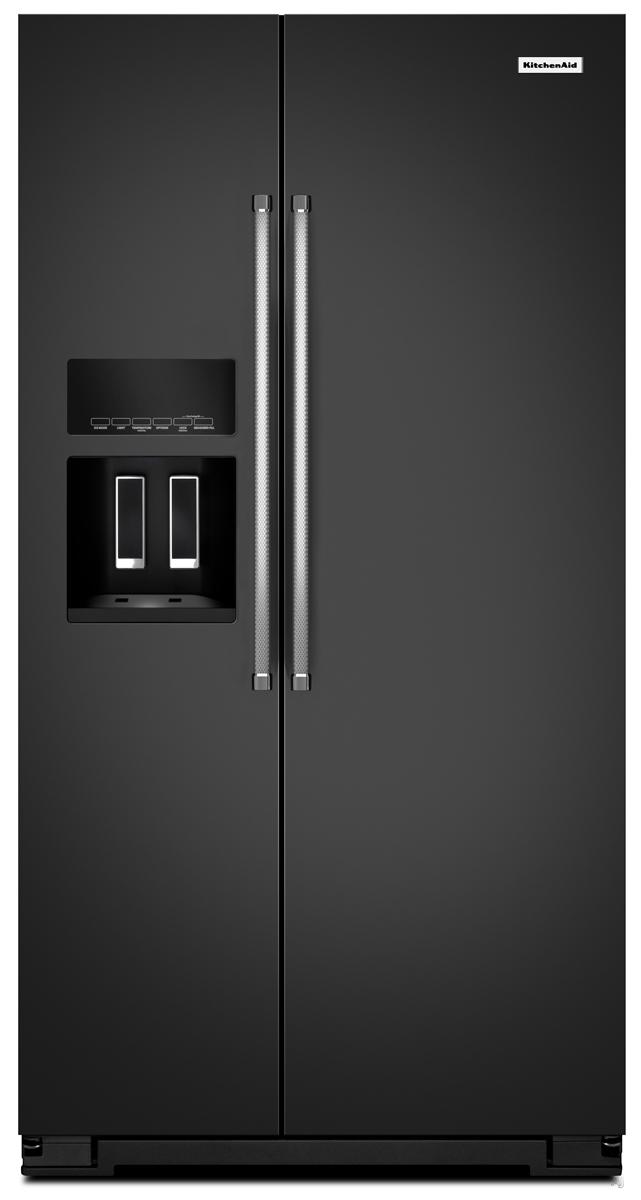 KitchenAid Black Side By Side Refrigerator