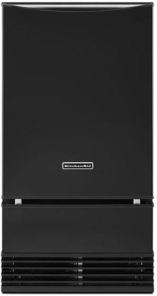 "KitchenAid 18"" Black Automatic Ice Maker"