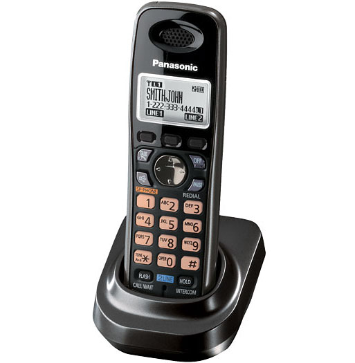 Panasonic DECT Black Digital Cordless Handset