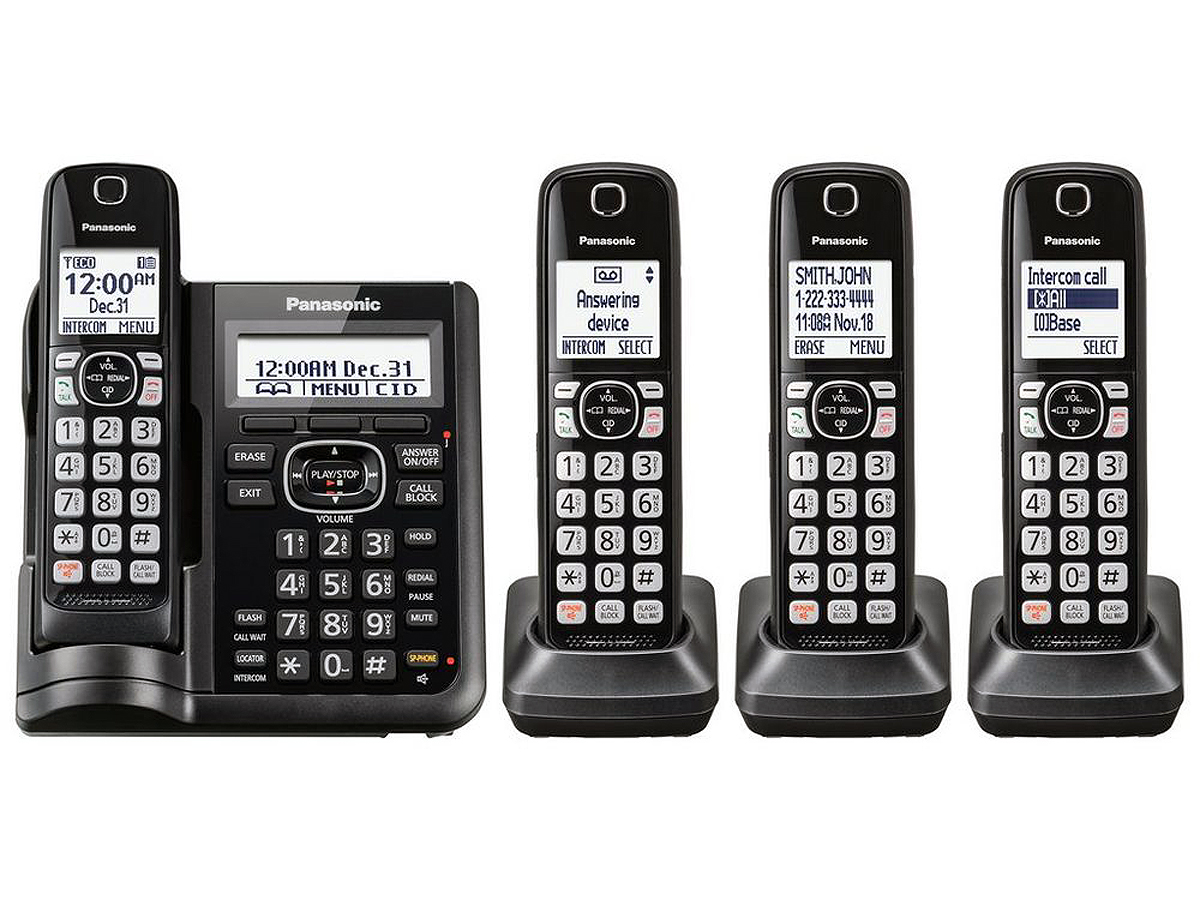 Panasonic Cordless Phone With 4 Handsets Kx Tgf544b