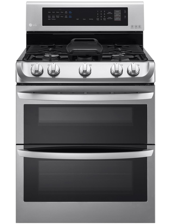 LG Stainless Steel Freestanding Double Gas Range