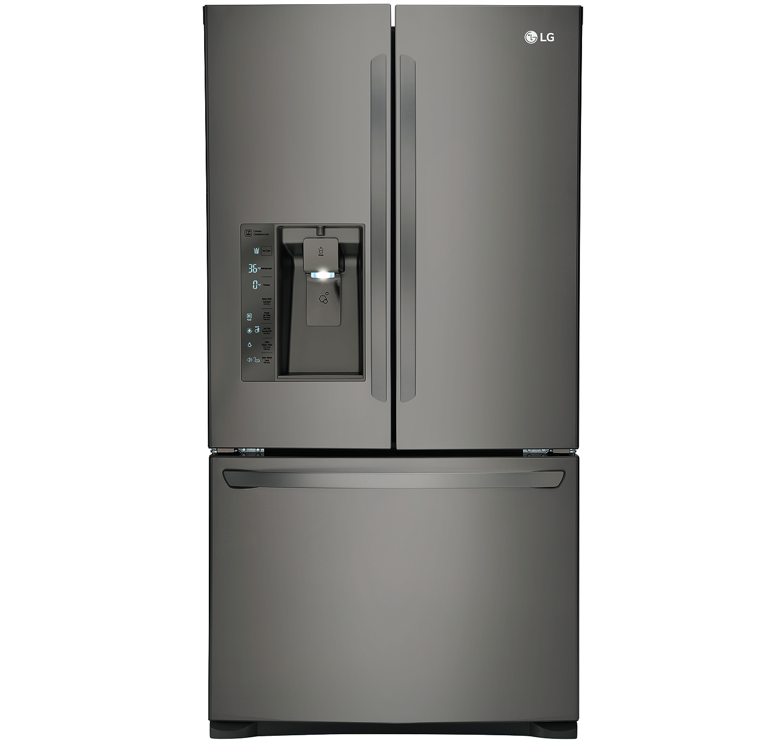 LG Counter Depth Black Diamond French Door Bottom Freezer...