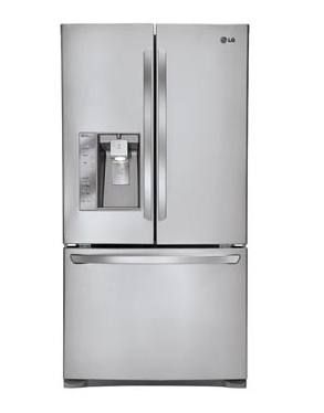 LG Counter Depth Stainless Steel French Door Refrigerator...