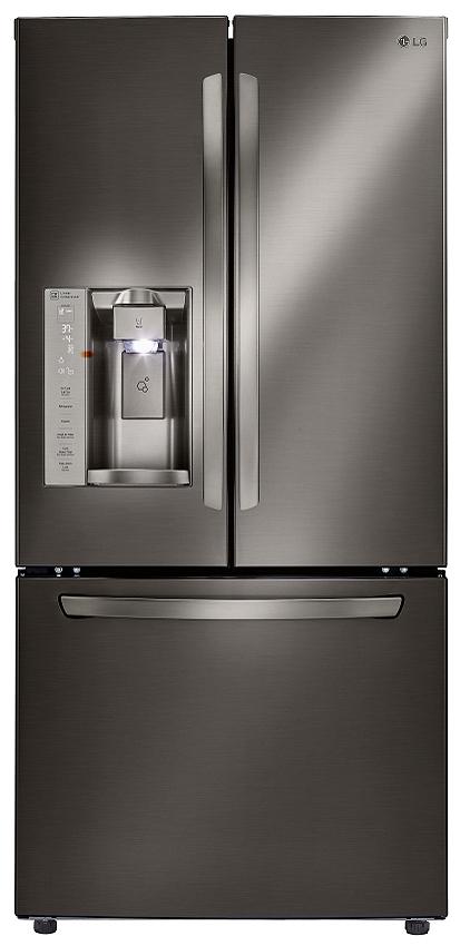 Lg Black Stainless French Door Refrigerator Lfxs24623d