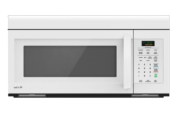 LG 1.6 Cu. Ft. Non-Sensor White Over-The-Range Micro Hood