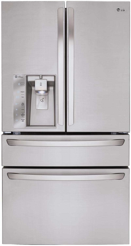 LG Stainless Steel 4-Door French Door Bottom Freezer Refr...