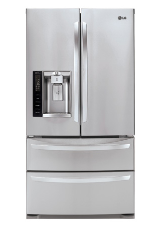 LG 27 Cu. Ft. Stainless Steel French Door Bottom Freezer ...