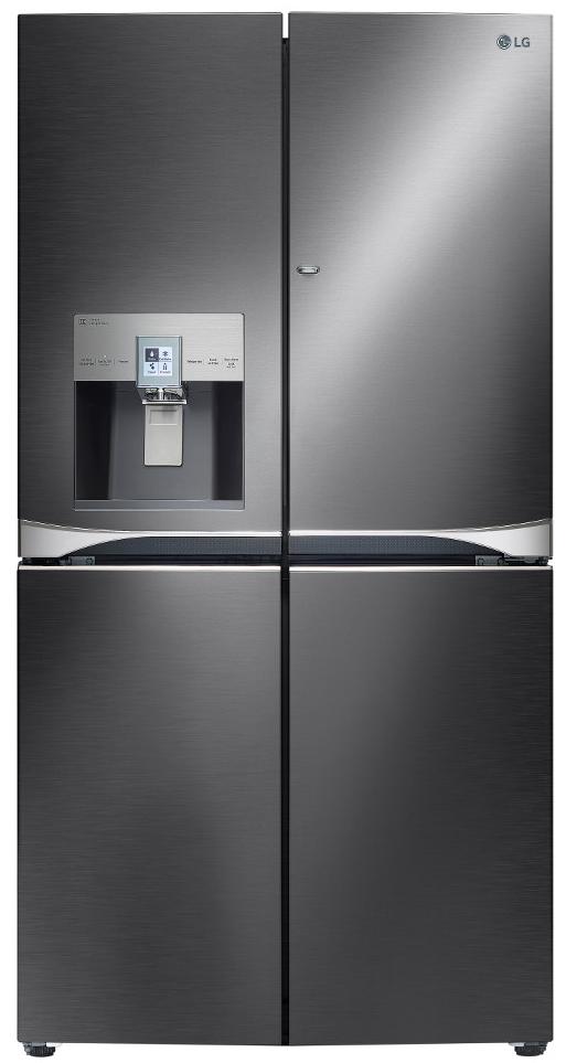 LG 30 Cu. Ft. Black Stainless Steel 4-Door French Door Re...
