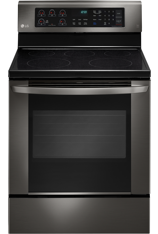 Lg Black Stainless Steel Electric Range Lre3061bd