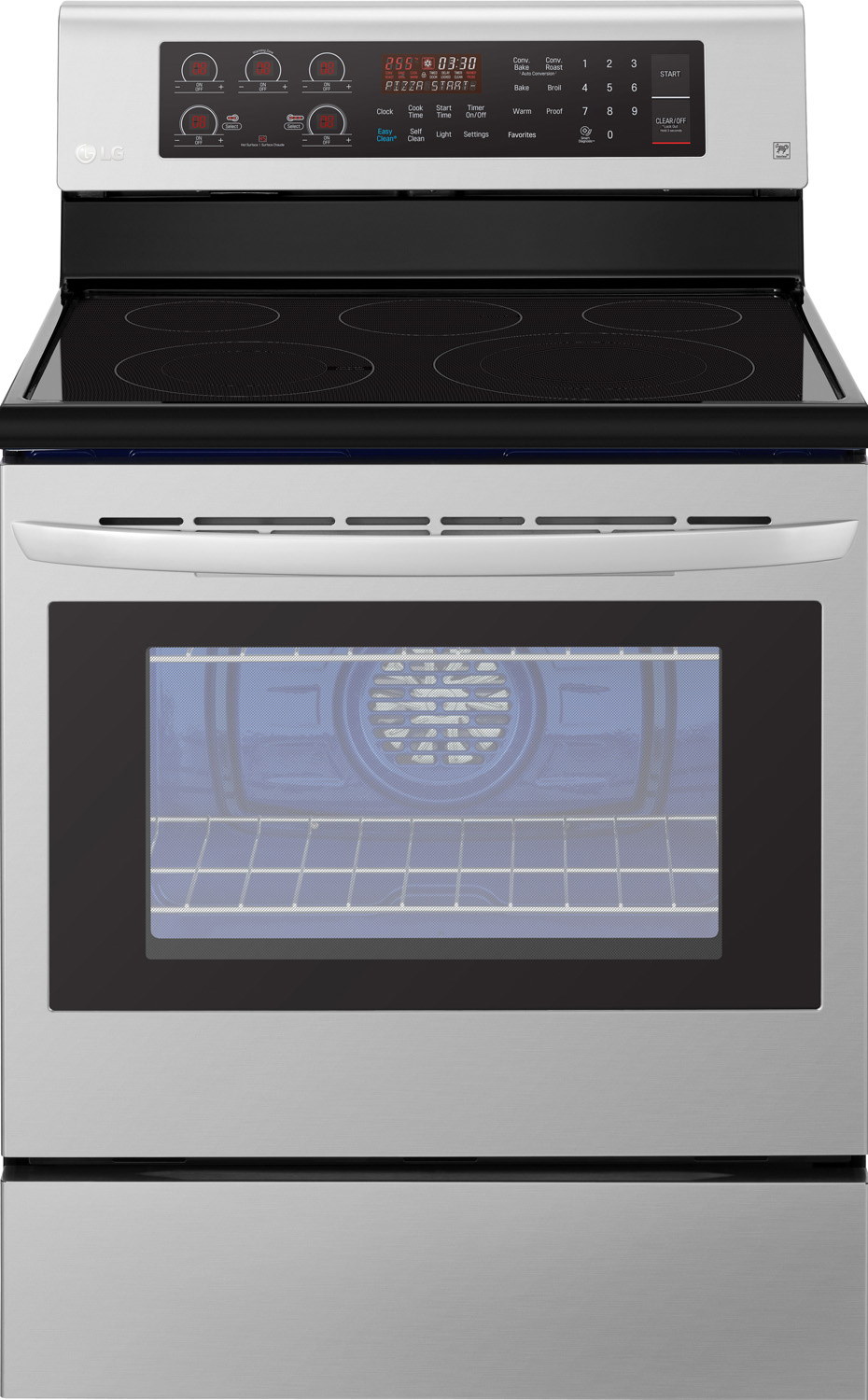 Lg Stainless Steel Freestanding Electric Range Lre3194st
