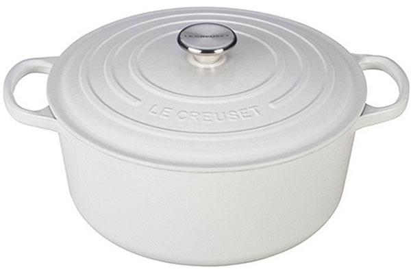 Le Creuset 7.25 Quart White Round Dutch Oven